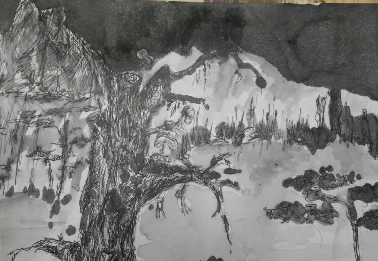 Dani, Zeichnung von Iris Rampf