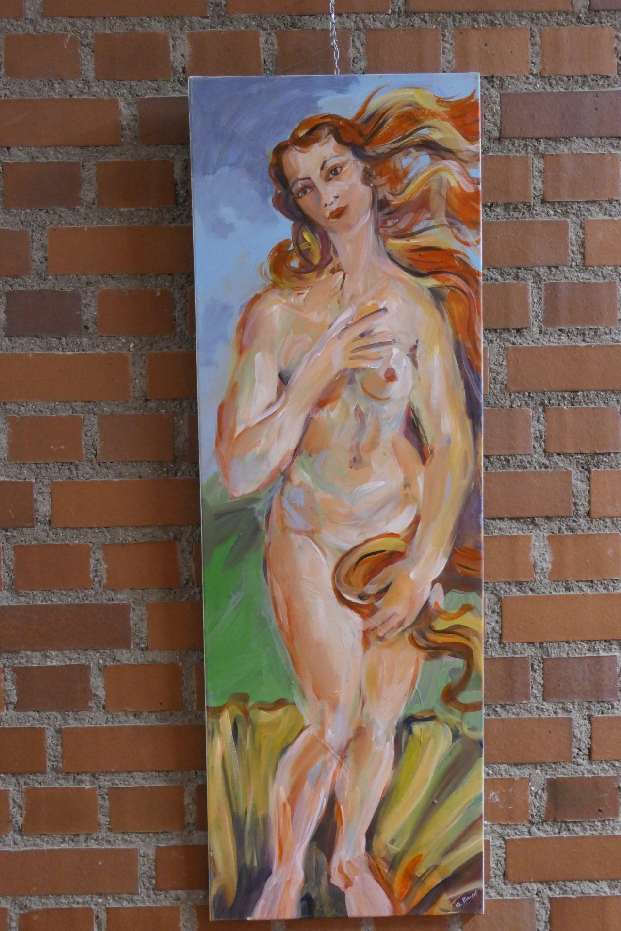 Betty von Gabriele Baierl, Acryl und Pigment auf Leinwand
