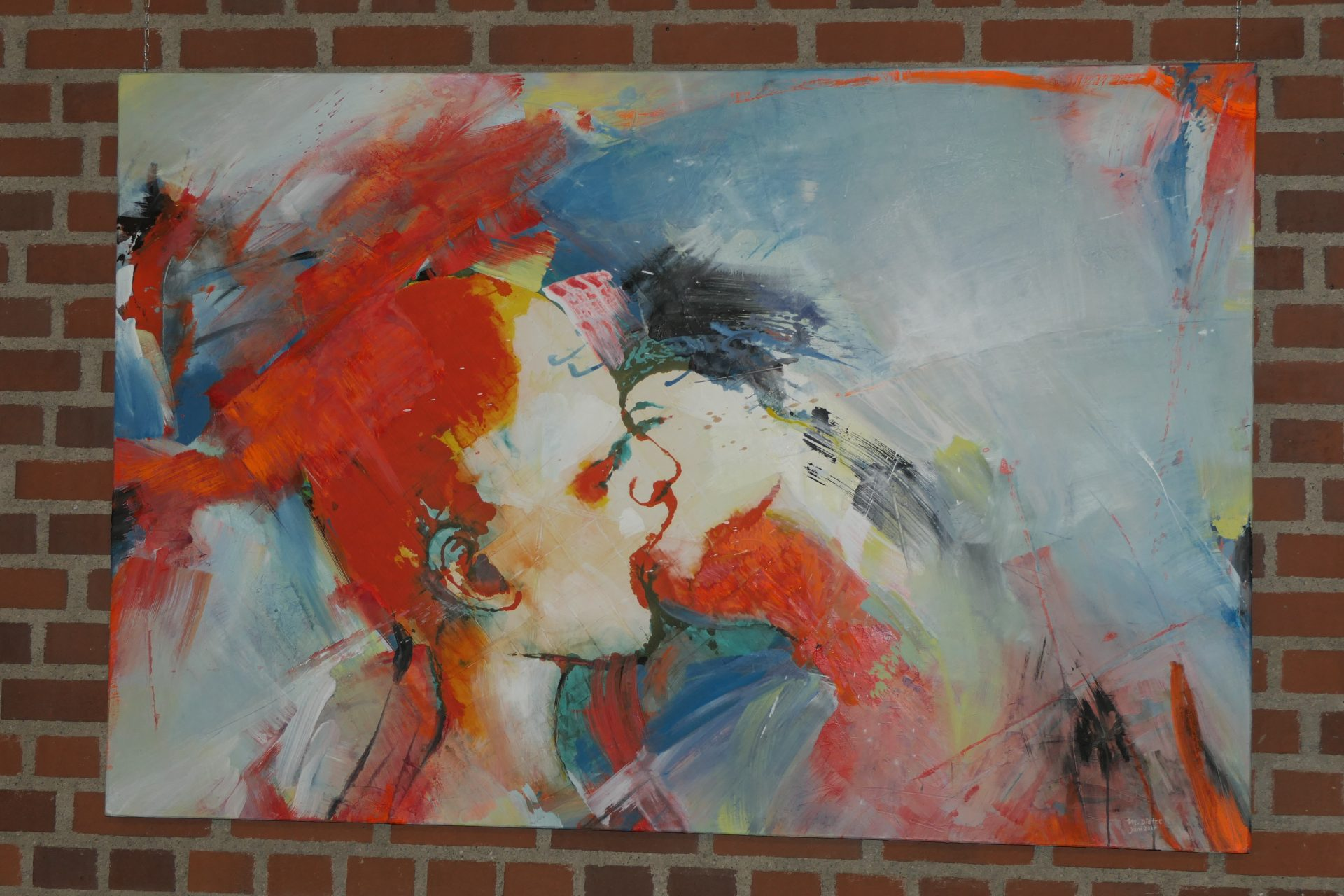 Der Kuss von Mathias Dietze, Acryl auf Leinwand
