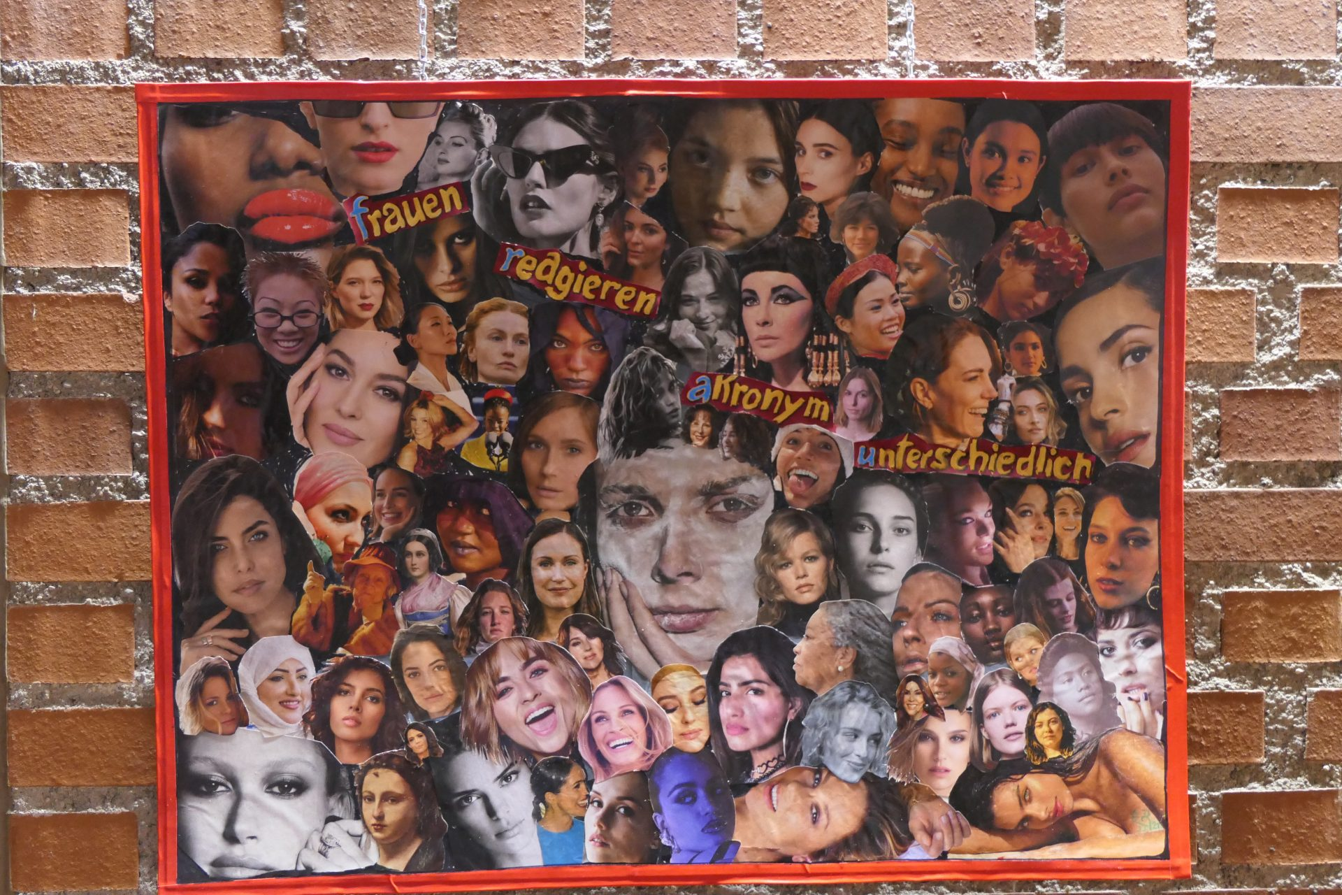 Frauen reagieren akronym unterschiedlich von Ricci Eckert, Collage