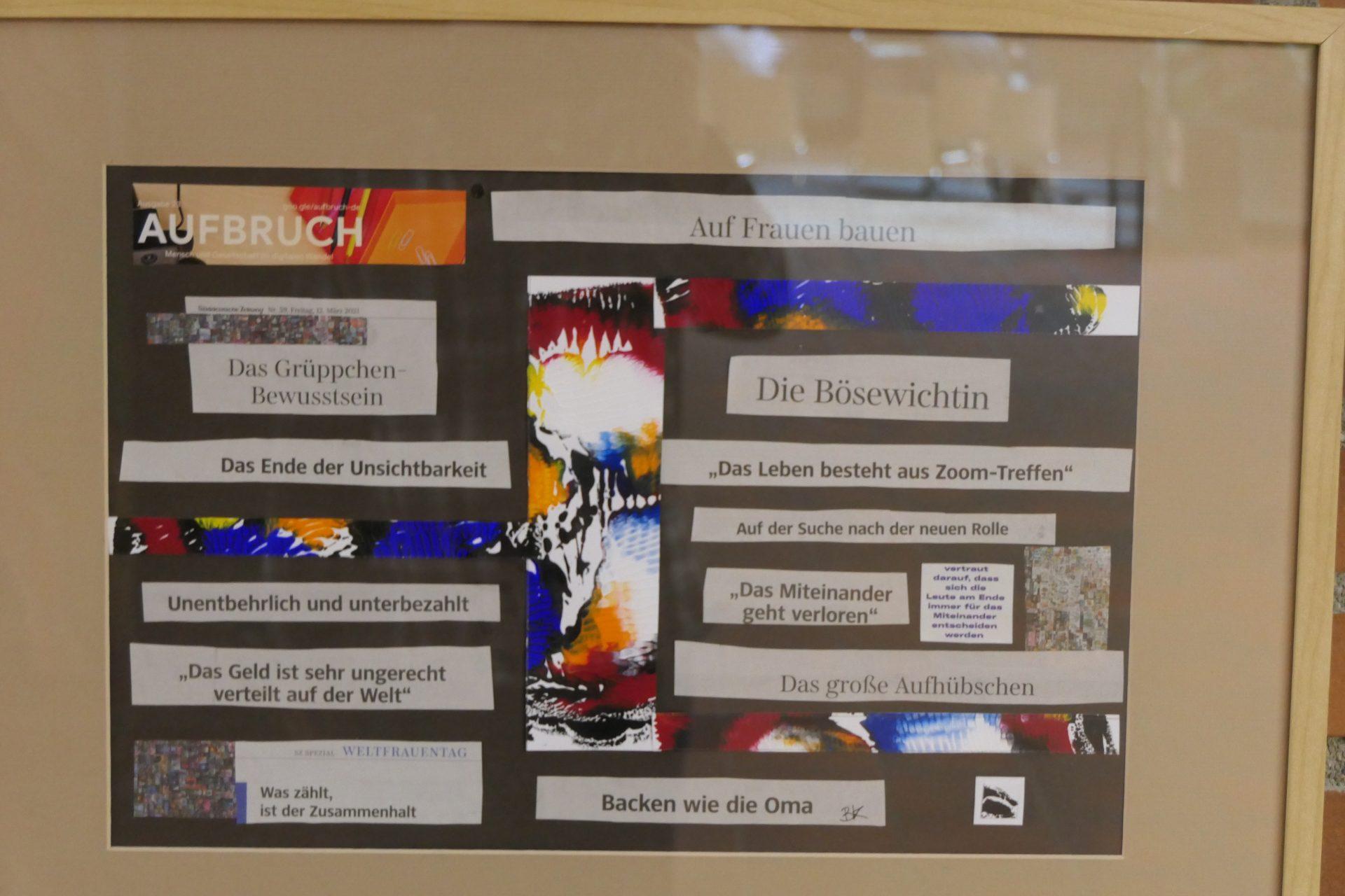 Gruppe Frau Akronym von Dr. Barbara Klug, Collage