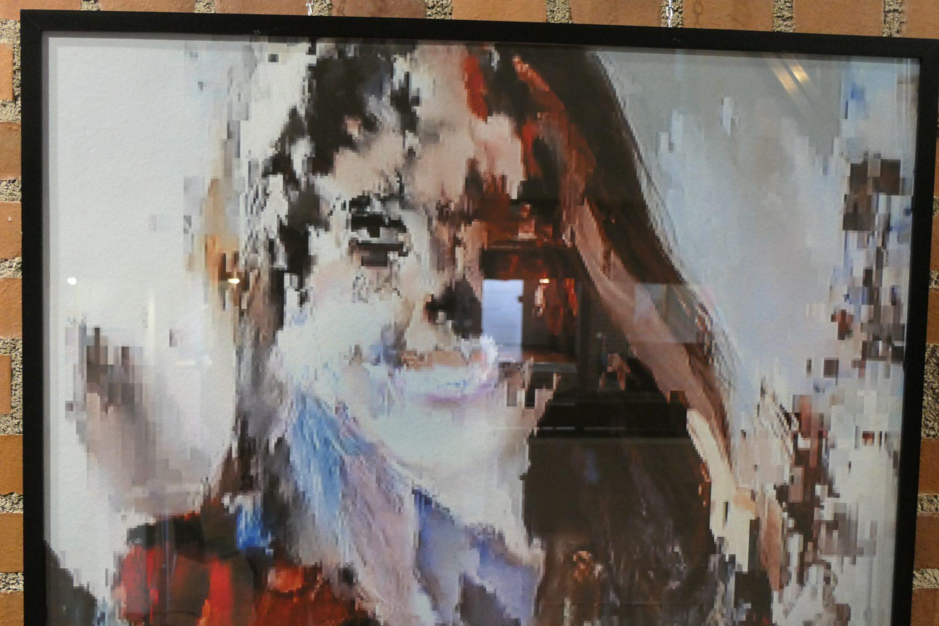 Pixelgirl1 von Ernst Hermann Ruth, Foto digital bearbeitet