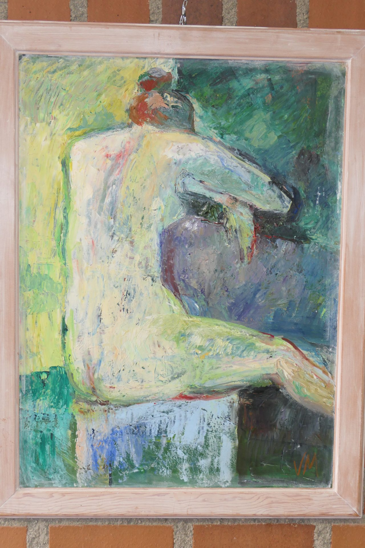 Rückenakt 1 von G Viktoria Müller, Öl auf Leinwand