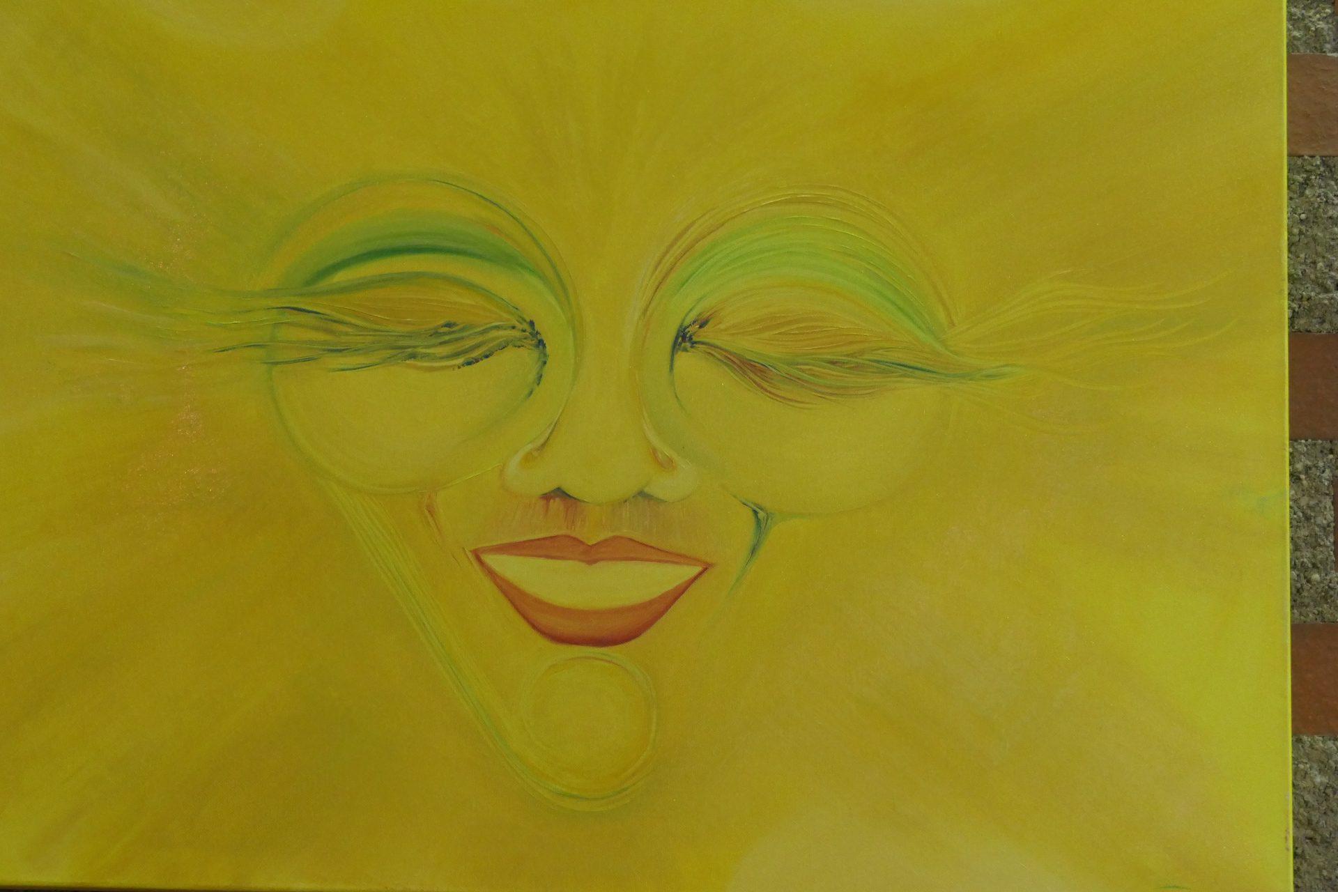 Sanne Sonnenschein Nr 11 von Sabine Karmazin, Öl auf Leinwand