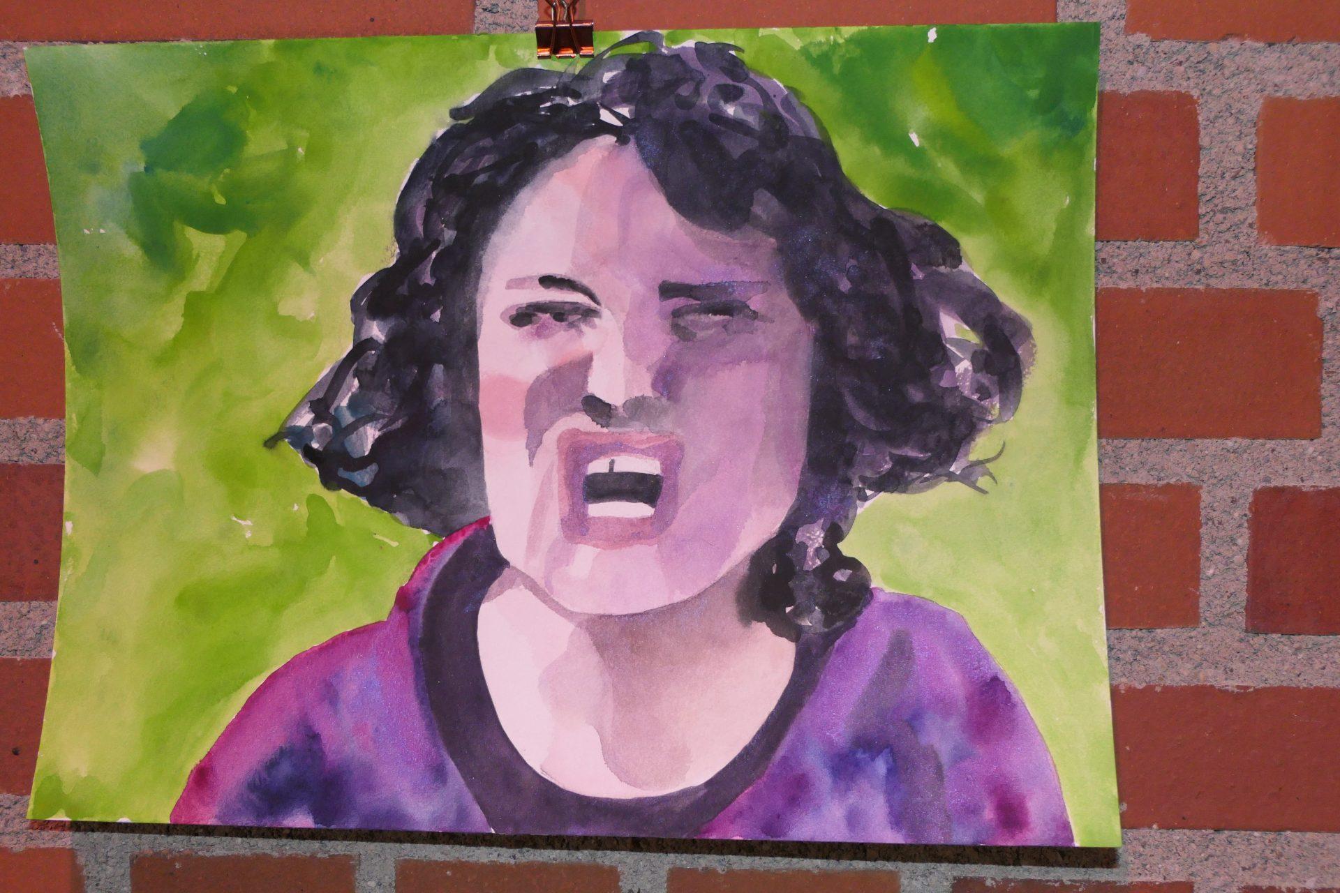 Screamshot1 von Claudia Hiepel, Aqurel auf Papier