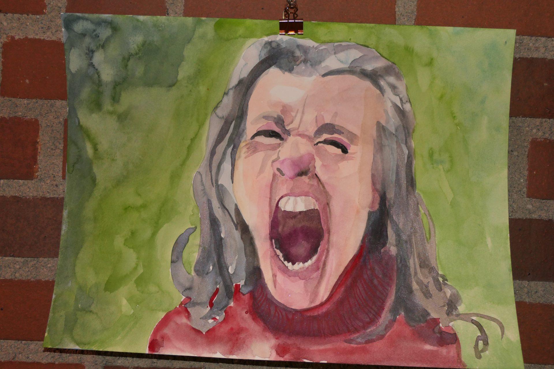 Screamshot2 von Claudia Hiepel, Aquarel auf PapierJPG